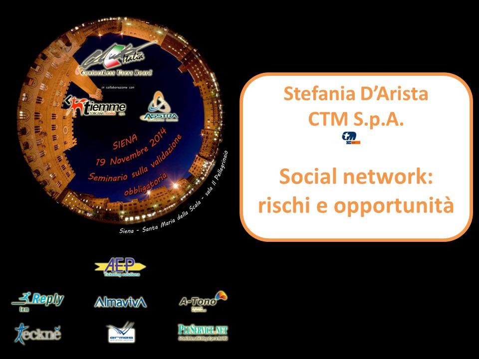 Stefania D'Arista CTM S.p.A. Social network: rischi e opportunità