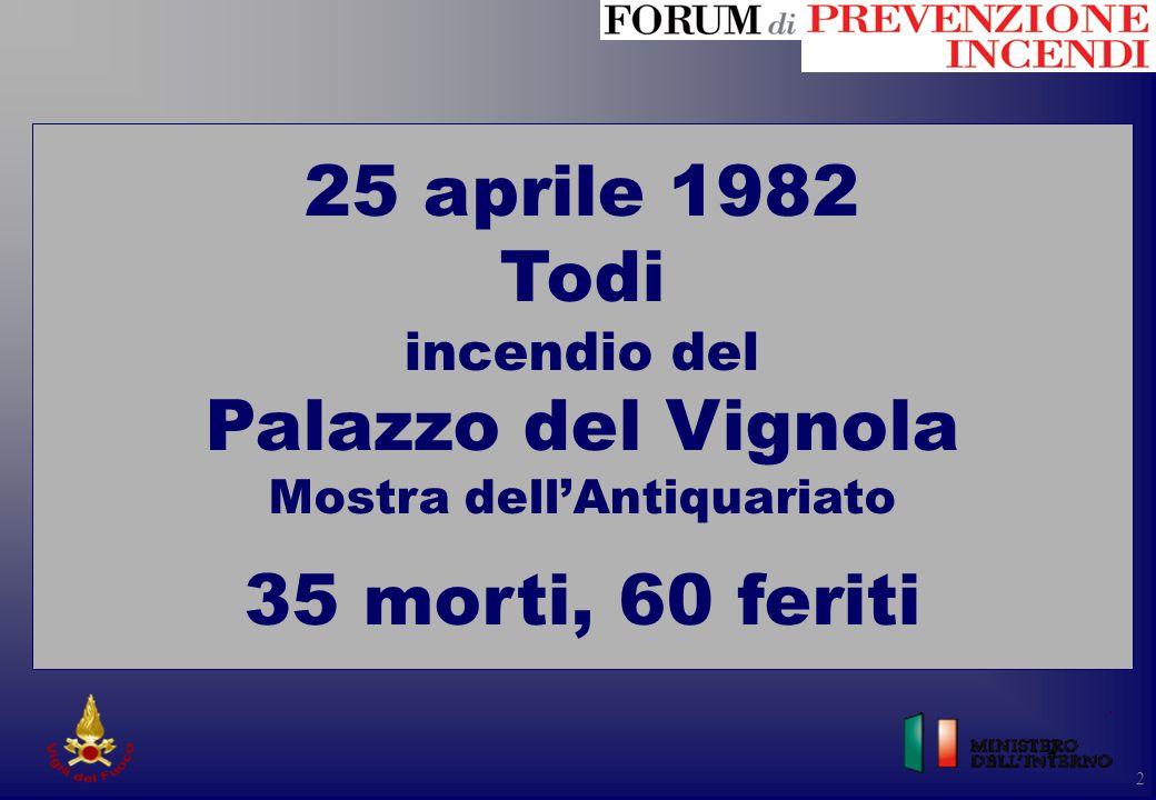 2 2 25 aprile 1982 Todi incendio del Palazzo del Vignola Mostra dell'Antiquariato 35 morti, 60 feriti