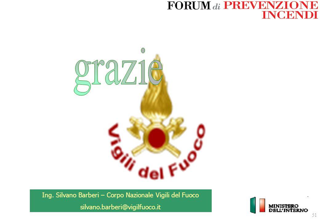 51 Ing. Silvano Barberi – Corpo Nazionale Vigili del Fuoco silvano.barberi@vigilfuoco.it