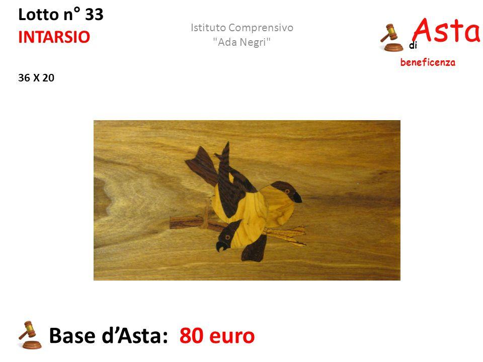 Asta beneficenza di Lotto n° 33 INTARSIO 36 X 20 Base d'Asta: 80 euro Istituto Comprensivo