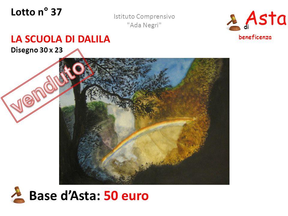 Asta beneficenza di Lotto n° 37 LA SCUOLA DI DALILA Disegno 30 x 23 Base d'Asta: 50 euro Istituto Comprensivo