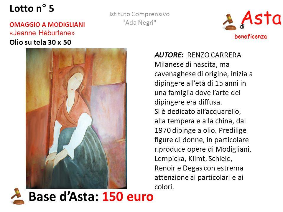 Asta beneficenza di AUTORE: RENZO CARRERA Milanese di nascita, ma cavenaghese di origine, inizia a dipingere all'età di 15 anni in una famiglia dove l