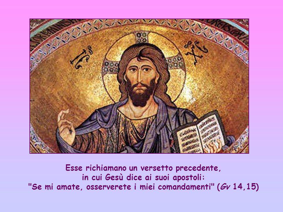 Queste parole sono prese dall'ampio discorso riportato dal quarto Vangelo (cf Gv 13,31-17,26), che Gesù ha rivolto ai suoi apostoli dopo l'ultima cena