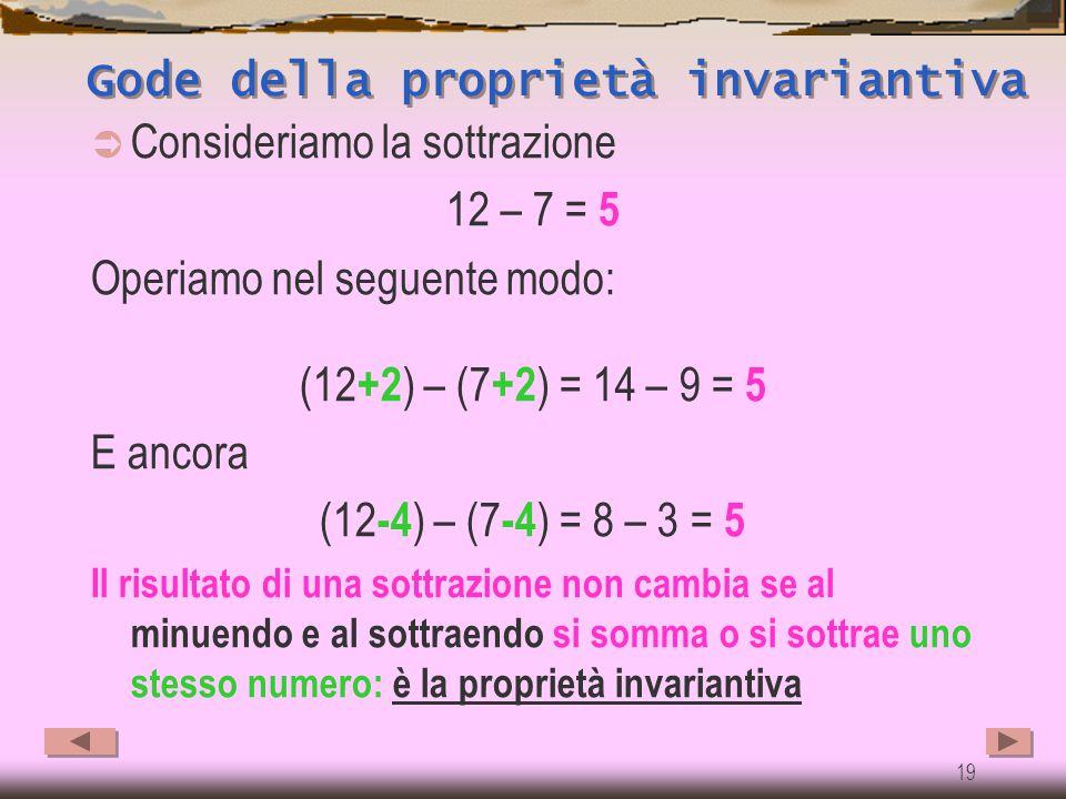 18 Le proprietà: la sottrazione non è commutativa 9-6= 3 6-9≠ 3