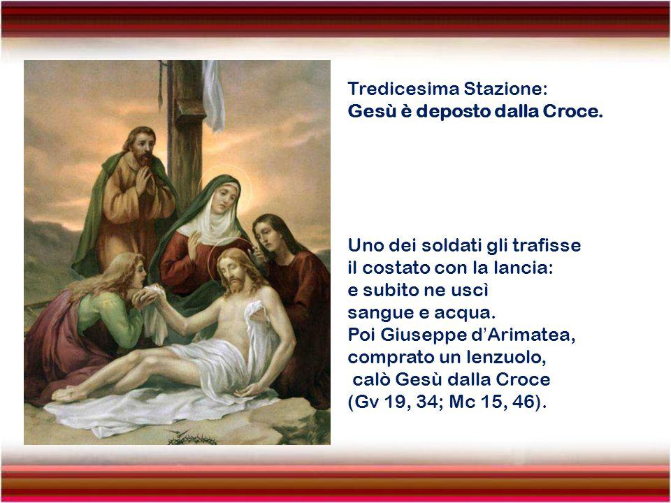 Dodicesima Stazione: Gesù muore in Croce. Era verso mezzogiorno quando il sole si eclissò e si fece buio su tutta la terra fino alle tre del pomeriggi