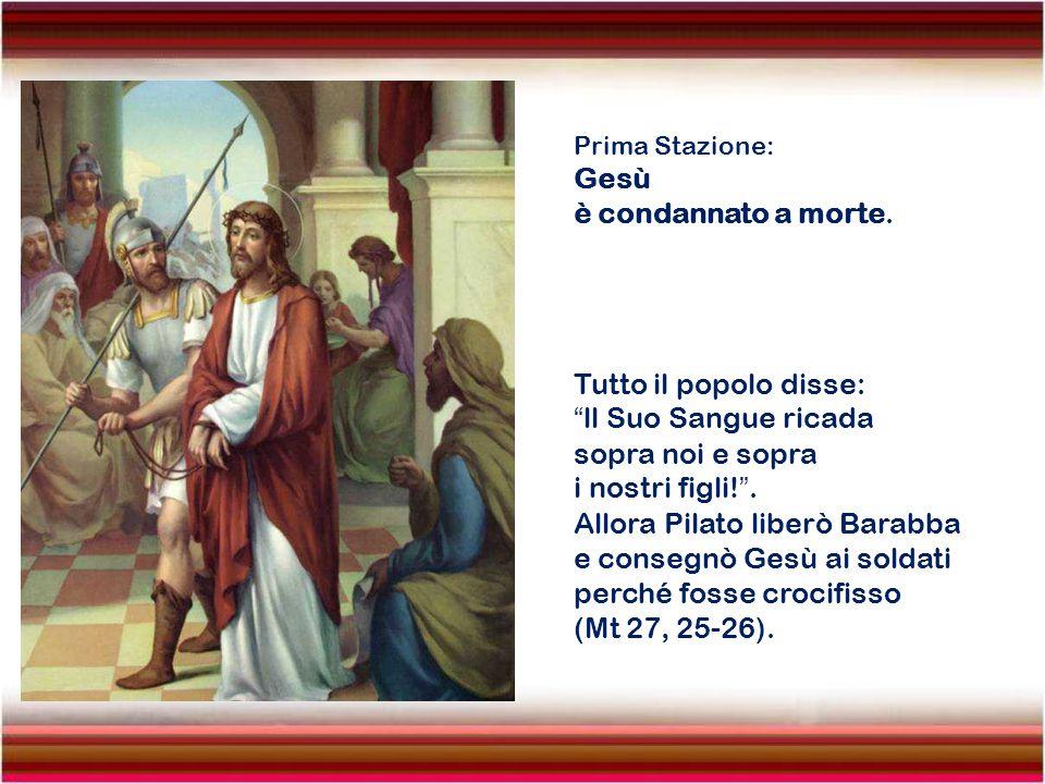 Undecima Stazione: Gesù è inchiodato alla Croce.