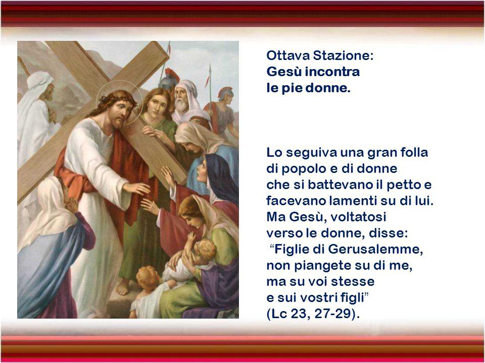 Settima Stazione: Gesù cade per la seconda volta. Io sono prostrato nella polvere; dammi vita secondo la tua parola! (Sal 118, 25).