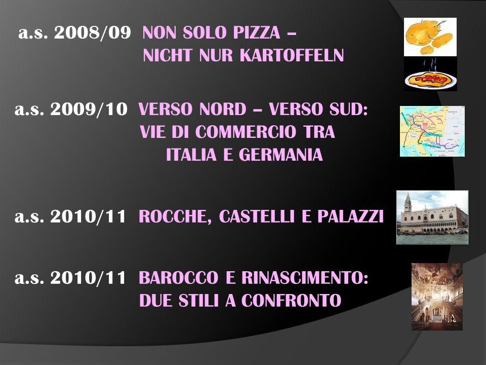 a.s. 2004/05 LEGGENDA E REALTA' STORICA a.s. 2005/06 GIARDINI ED ARCHITETTURE DI GIARDINI a.s.