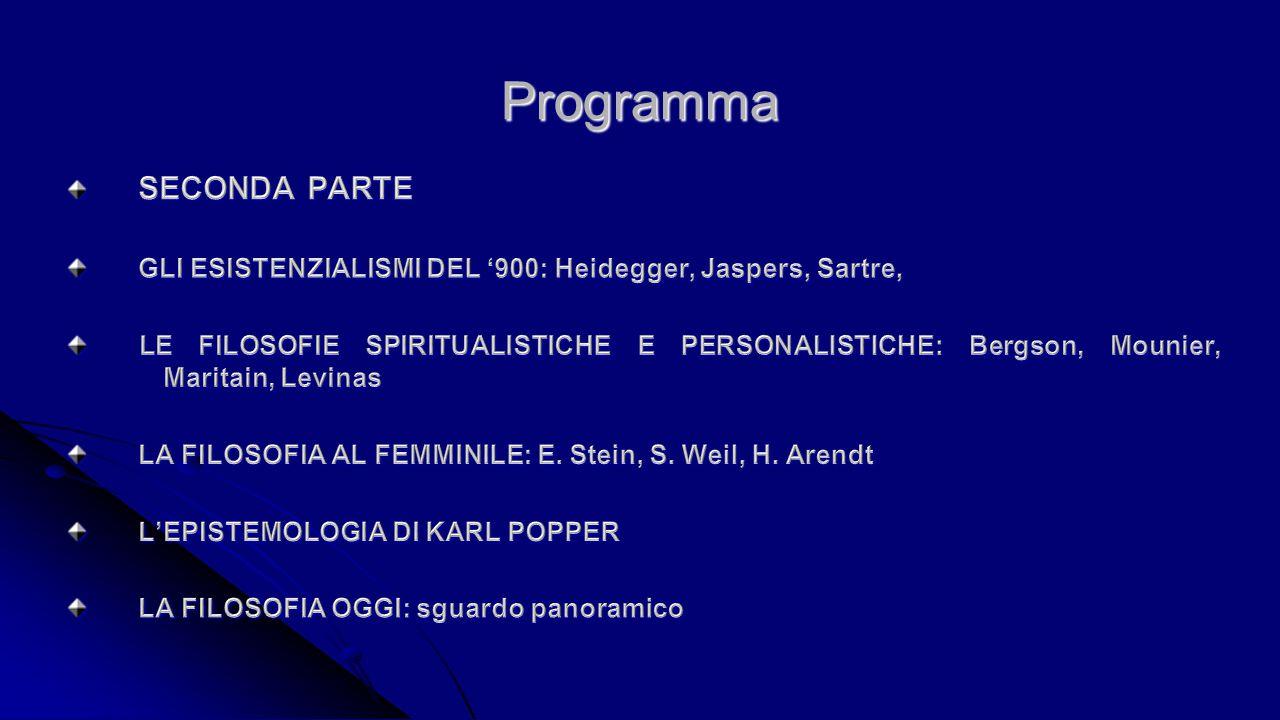 Bibliografia minima Testi consigliati: Abbagnano-Fornero, Figure della filosofia, voll.