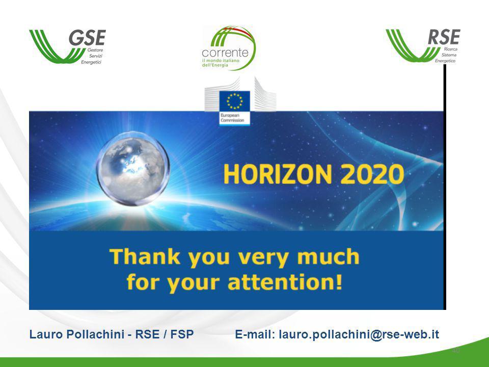 40 Lauro Pollachini - RSE / FSP E-mail: lauro.pollachini@rse-web.it