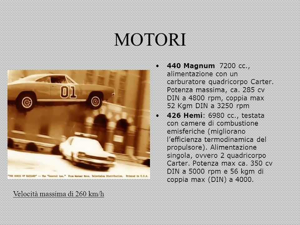 MOTORI 440 Magnum 7200 cc., alimentazione con un carburatore quadricorpo Carter.