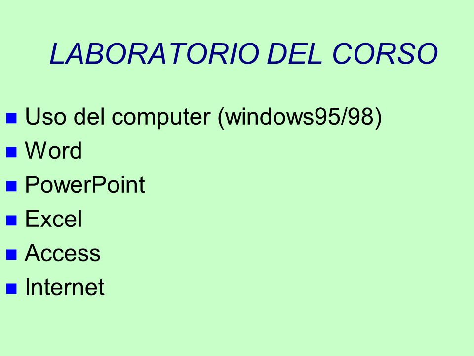 ESEMPIO D'USO DI VARIABILI Program SILLY begin Variables: YEARS,DAYS, type integer; read YEARS from input; DAYS := YEARS * 365; print DAYS; end