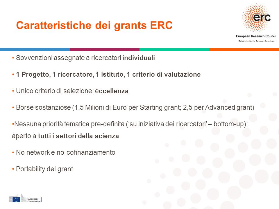 Established by the European Commission ERC prospects for the future Rising applications