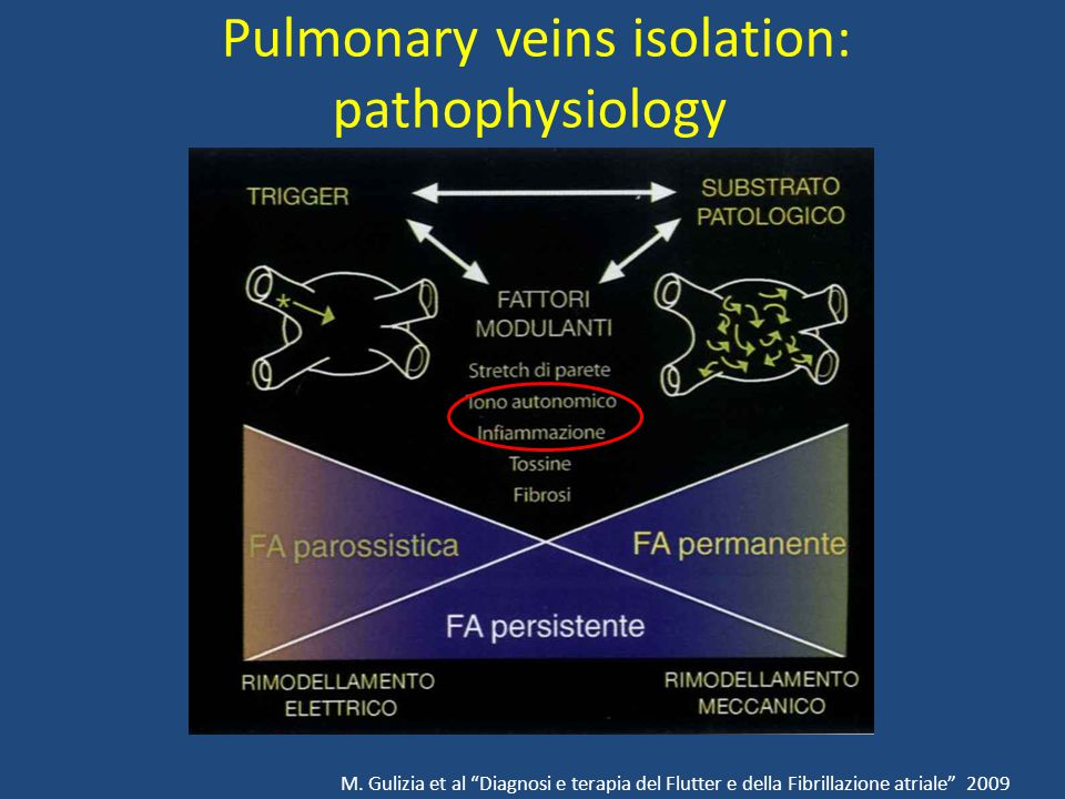 Pulmonary veins isolation: pathophysiology M.