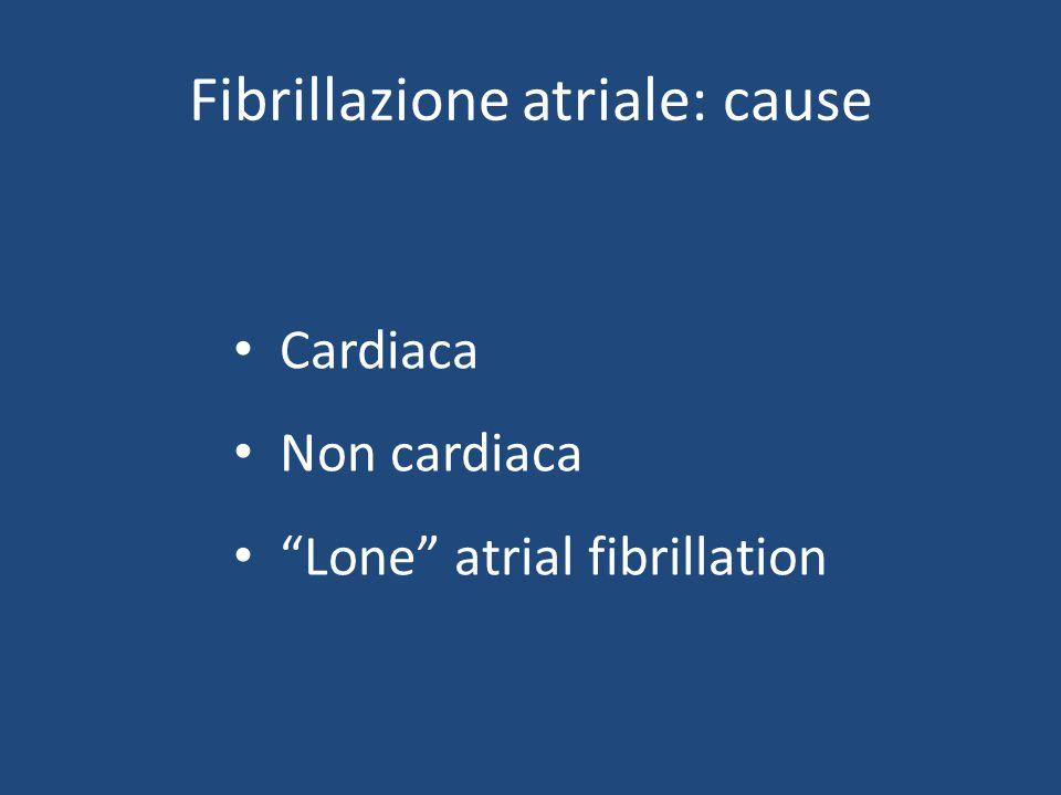 "Fibrillazione atriale: cause Cardiaca Non cardiaca ""Lone"" atrial fibrillation"