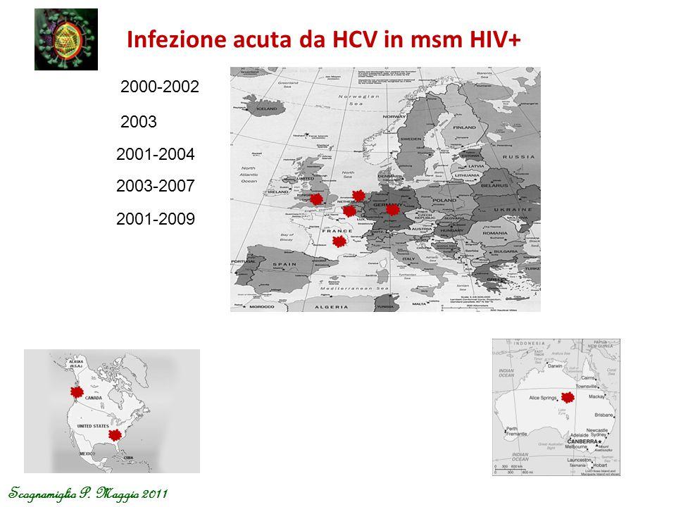 Infezione acuta da HCV in msm HIV+ Scognamiglio P. Maggio 2011 2000-2002 2003 2001-2004 2003-2007 2001-2009