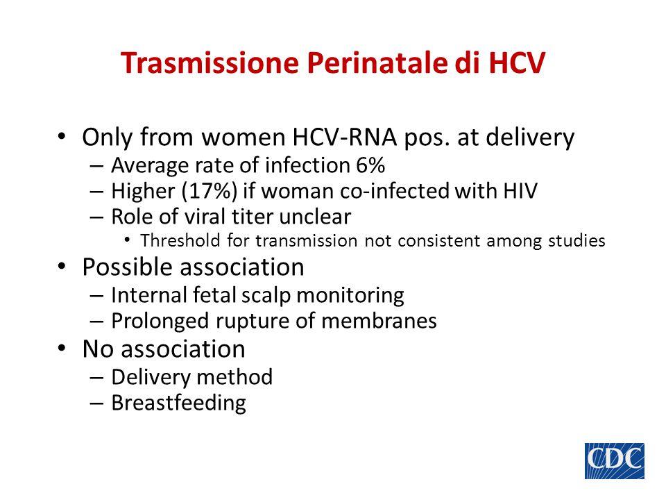 Tassi di trasmissione verticale di HCV in 63 studi * Per dimensione del campione e varianza Da: Yeung et al.