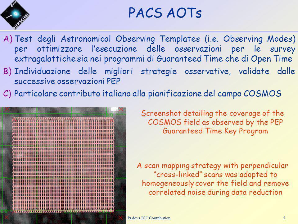 ASI ReviewPadova ICC Contribution5 A)Test degli Astronomical Observing Templates (i.e.