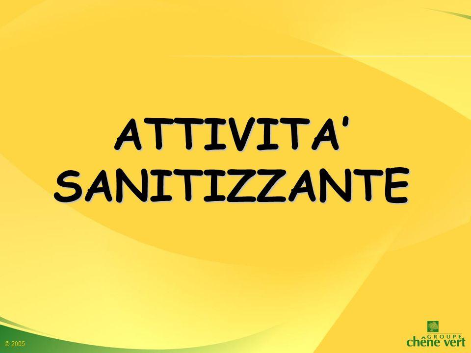 © 2005 ATTIVITA' SANITIZZANTE