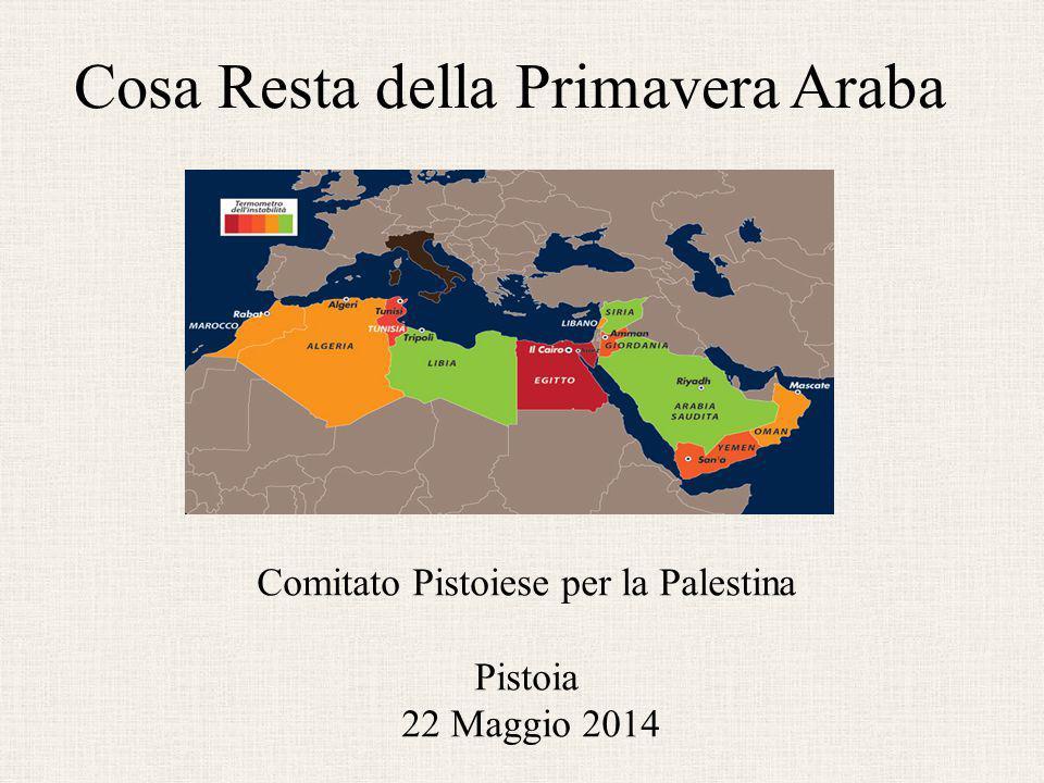 Cosa Resta della Primavera Araba Comitato Pistoiese per la Palestina Pistoia 22 Maggio 2014