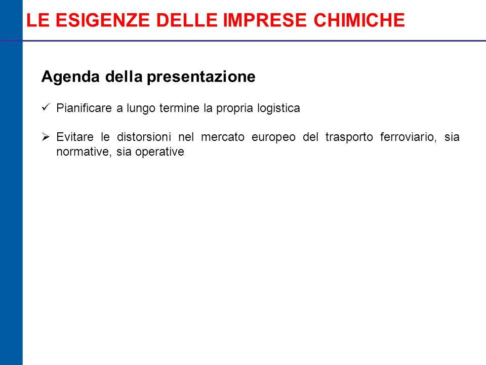 PROPOSTE OPERATIVE Dal documento «Il parere di Federchimica sulla Proposta di Legge «Disposizioni per lo sviluppo del trasporto ferroviario delle merci» n.