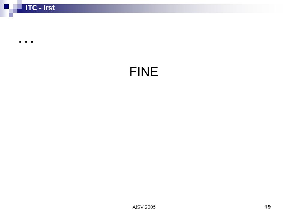 ITC - irst AISV 200519 … FINE