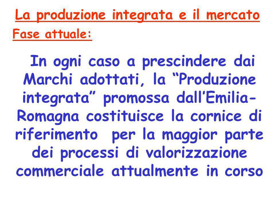 """In ogni caso a prescindere dai Marchi adottati, la """"Produzione integrata"""" promossa dall'Emilia- Romagna costituisce la cornice di riferimento per la m"""