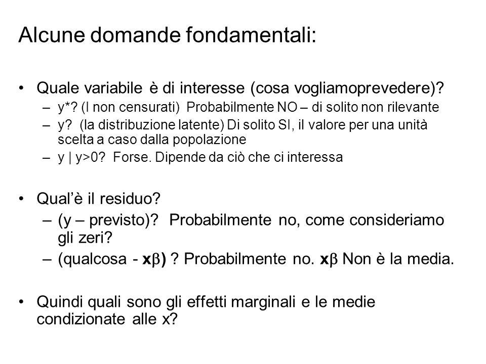 Alcune domande fondamentali: Quale variabile è di interesse (cosa vogliamoprevedere).