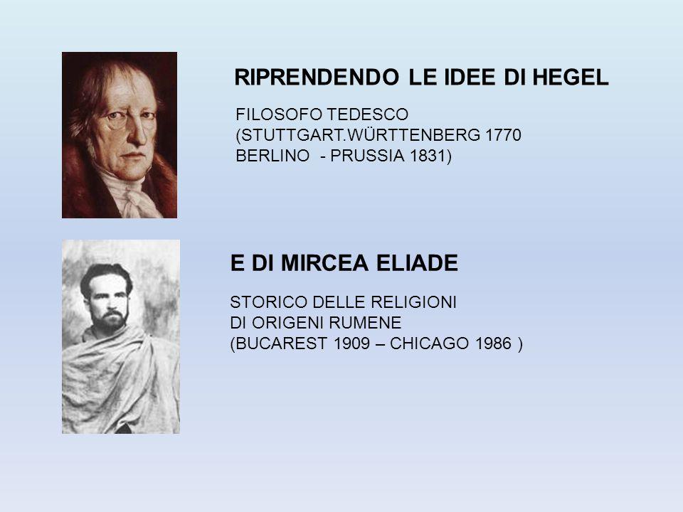 RIPRENDENDO LE IDEE DI HEGEL E DI MIRCEA ELIADE FILOSOFO TEDESCO (STUTTGART.WÜRTTENBERG 1770 BERLINO - PRUSSIA 1831) STORICO DELLE RELIGIONI DI ORIGEN