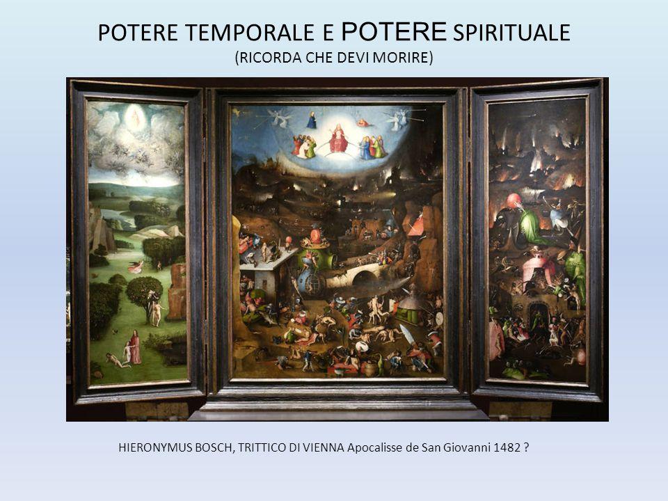HIERONYMUS BOSCH, TRITTICO DI VIENNA Apocalisse de San Giovanni 1482 ? POTERE TEMPORALE E POTERE SPIRITUALE (RICORDA CHE DEVI MORIRE)