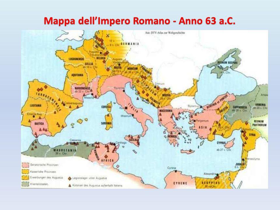 Mappa dell'Impero Romano - Anno 63 a.C.