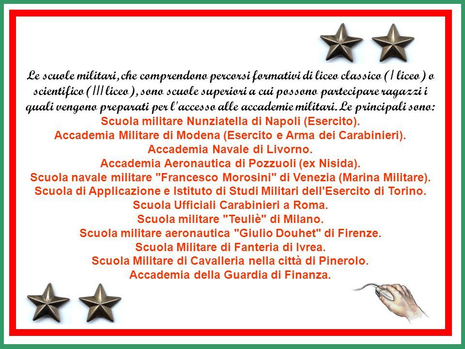aeronautiche e militari per l'eventuale inserimento in servizio permanente effettivo nelle Forze armate italiane, proseguono gli studi presso l Accademia Aeronautica.