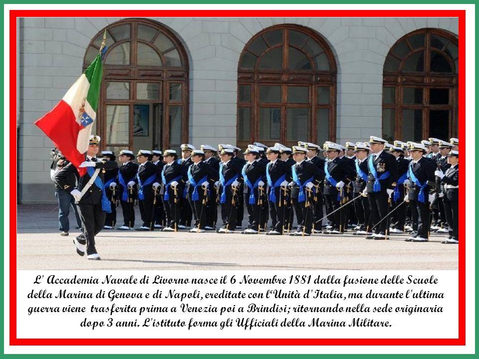 L Accademia Navale di Livorno nasce il 6 Novembre 1881 dalla fusione delle Scuole della Marina di Genova e di Napoli, ereditate con l'Unità d Italia, ma durante l ultima guerra viene trasferita prima a Venezia poi a Brindisi; ritornando nella sede originaria dopo 3 anni.