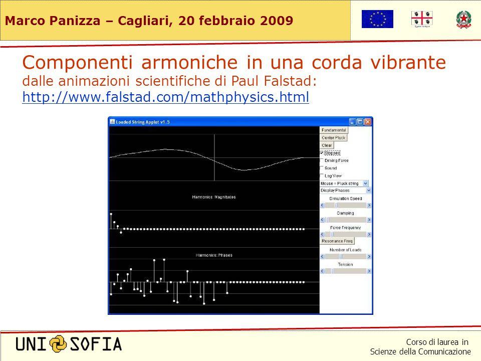 Corso di laurea in Scienze della Comunicazione Marco Panizza – Cagliari, 20 febbraio 2009 … ma nessun segnale è perfettamente periodico (e tanto meno