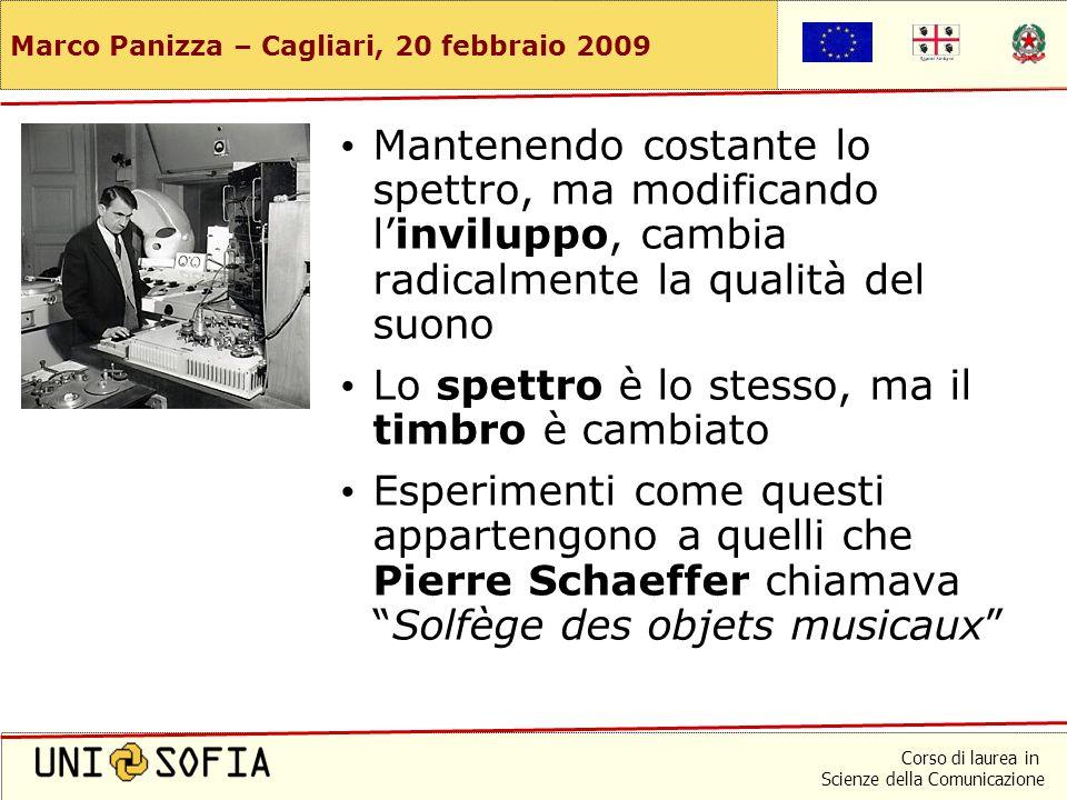 Corso di laurea in Scienze della Comunicazione Marco Panizza – Cagliari, 20 febbraio 2009 Ancora tromba e pianoforte Proviamo ora a modificare l'invil