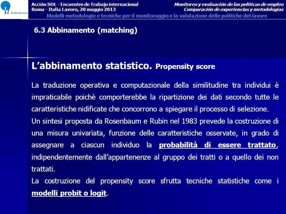 L'abbinamento statistico.