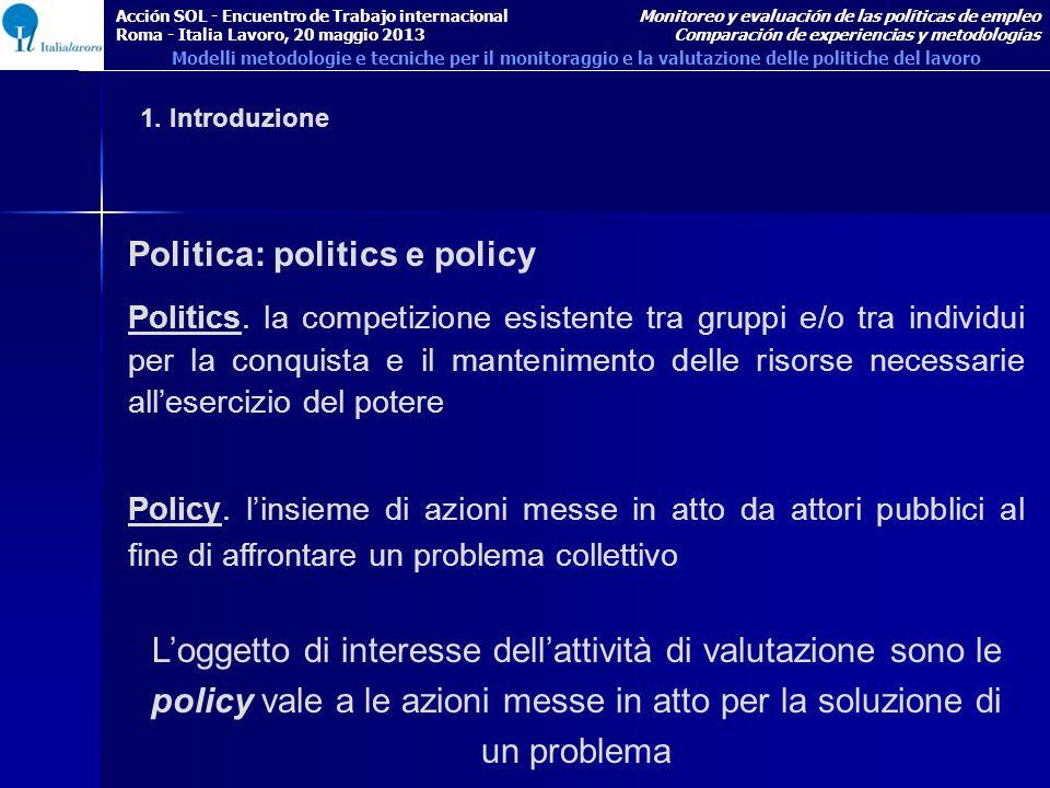Politica: politics e policy Politics.