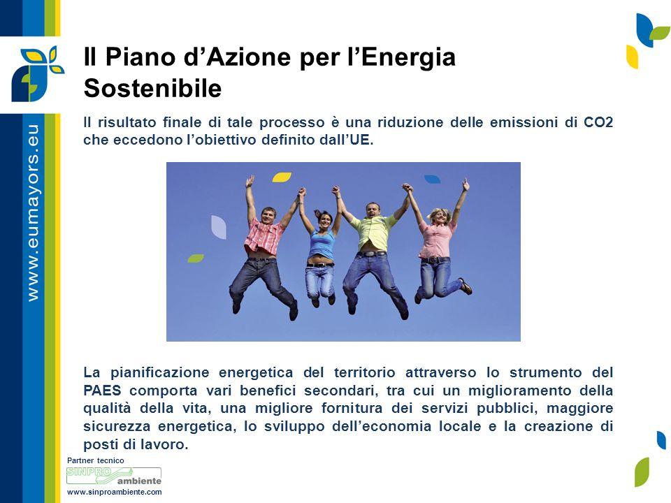 Partner tecnico www.sinproambiente.com Il risultato finale di tale processo è una riduzione delle emissioni di CO2 che eccedono l'obiettivo definito dall'UE.