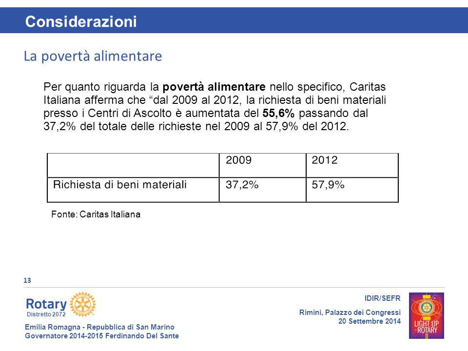 Emilia Romagna - Repubblica di San Marino Governatore 2014-2015 Ferdinando Del Sante Distretto 2072 13 IDIR/SEFR Rimini, Palazzo dei Congressi 20 Sett