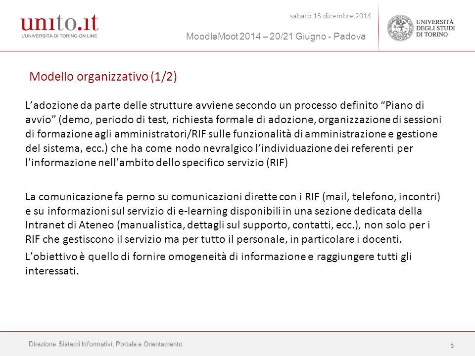 Direzione Sistemi Informativi, Portale e Orientamento sabato 13 dicembre 2014 MoodleMoot 2014 – 20/21 Giugno - Padova 16 Anche la registrazione di un convegno è un materiale multimediale che può essere utilizzato nell'ambito della didattica.