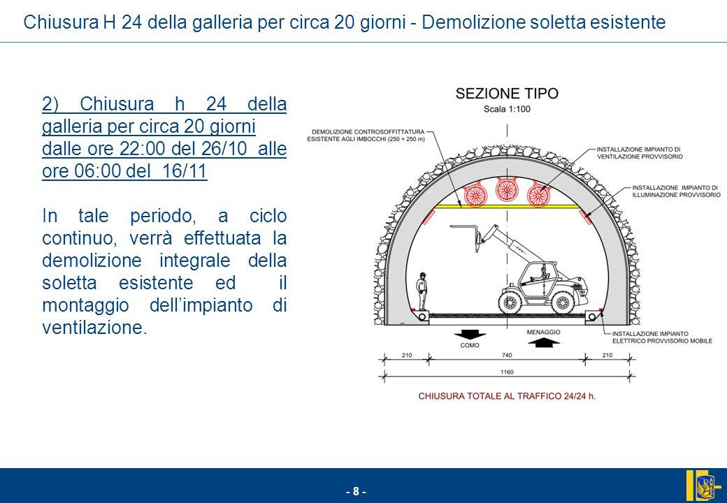 - 19 - Cronoprogramma per le fasi iniziali