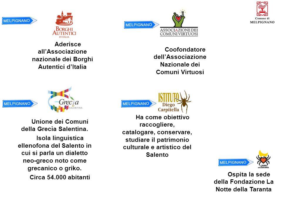 Aderisce all'Associazione nazionale dei Borghi Autentici d'Italia Unione dei Comuni della Grecìa Salentina. Isola linguistica ellenofona del Salento i