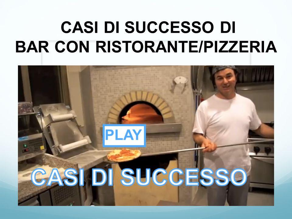 CASI DI SUCCESSO DI BAR CON RISTORANTE/PIZZERIA