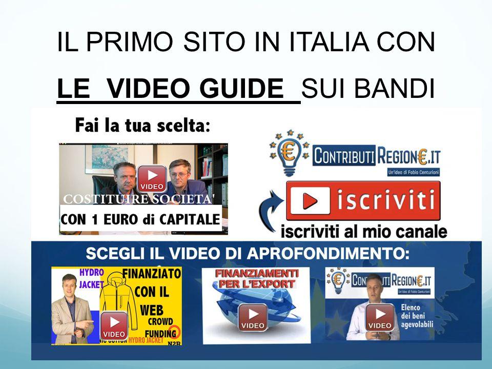 IL PRIMO SITO IN ITALIA CON LE VIDEO GUIDE SUI BANDI