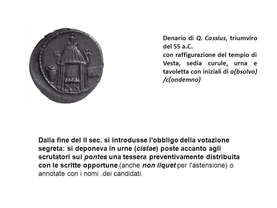 Denario di P.Licinius Nerva, triumviro monetale nel 113/112 a.