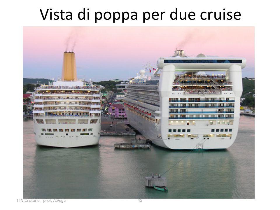 Vista di poppa per due cruise 45ITN Crotone - prof. A.Vega
