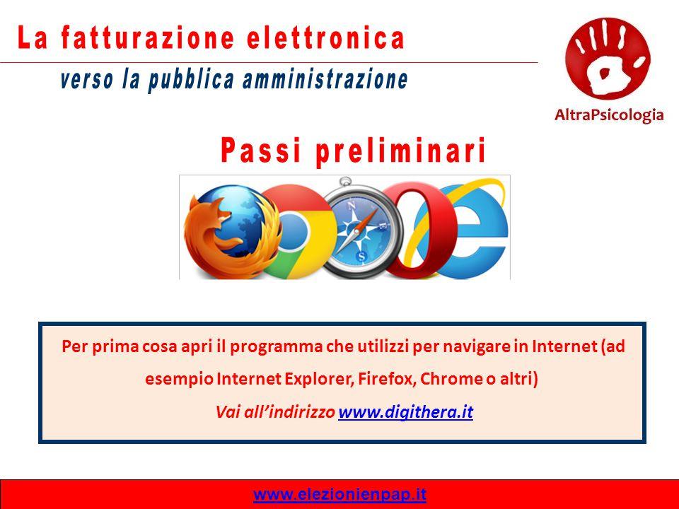 Per prima cosa apri il programma che utilizzi per navigare in Internet (ad esempio Internet Explorer, Firefox, Chrome o altri) Vai all'indirizzo www.d
