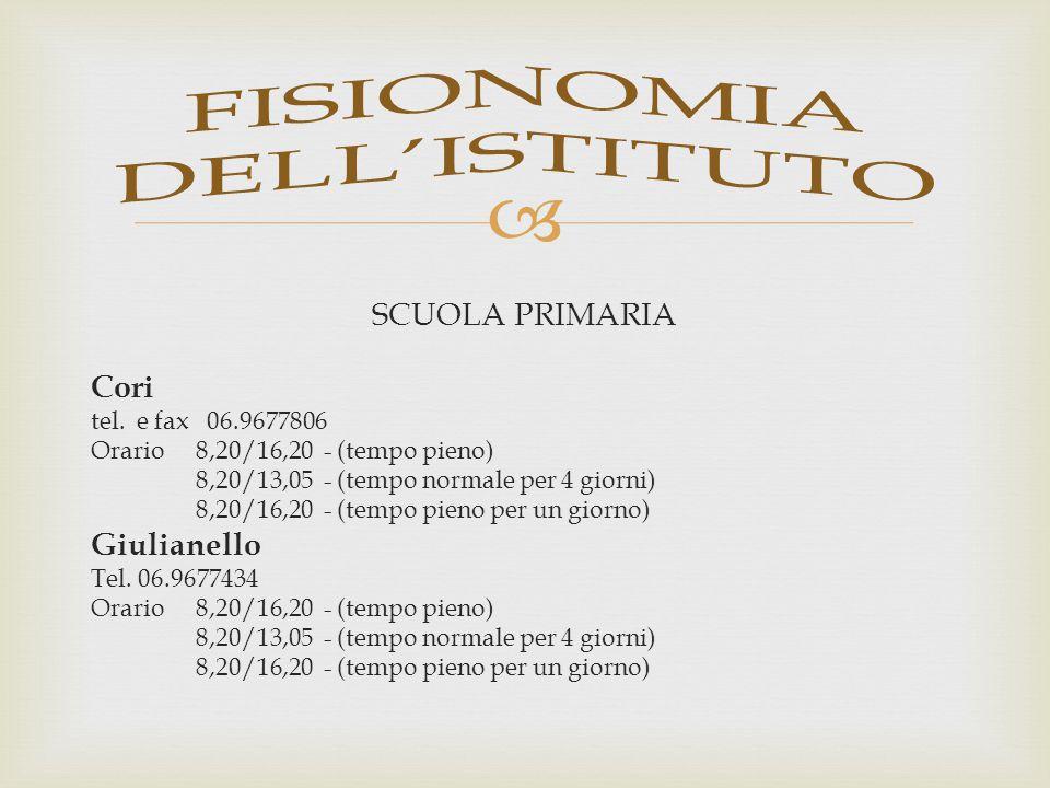  SCUOLA SECONDARIA DI PRIMO GRADO Cori Tel.
