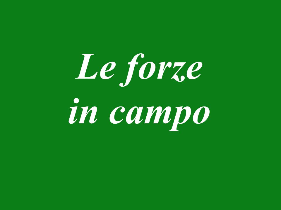 Le forze in campo