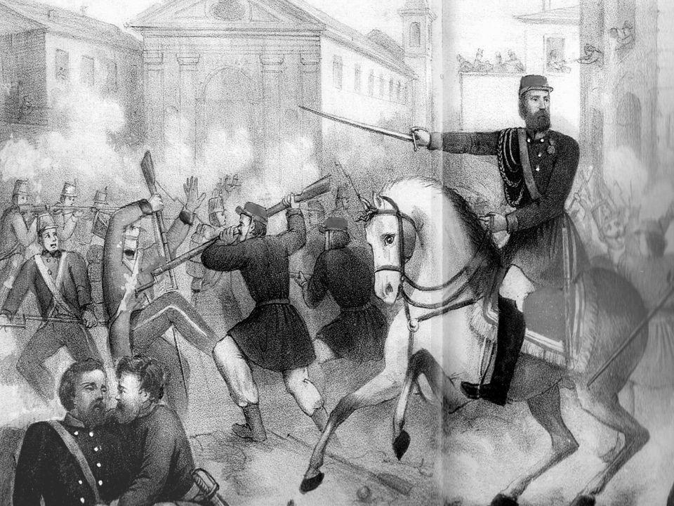 La risposta di Garibaldi: i cannoni della Tuk öry